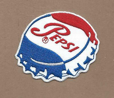 New 2 3/4 X 3 1/4 Inch Pepsi Cola Cap Iron On Patch Free Shipping