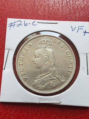 1889 silver great Britain double florin large coin