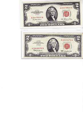 1953 or 1963 $2 Red Seal Note u get one note in our best new currency protector