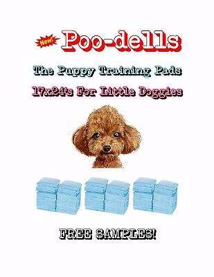 "300-17x24"" Poo-dells the Lightweight Puppy Training Pads Made for Little Doggies"