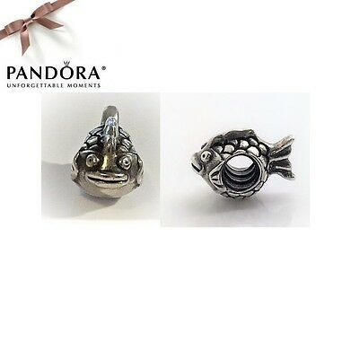 Pandora RETIRED Sterling Silver HAPPY FISH Charm - 790392