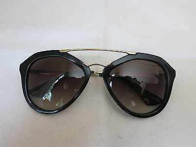 3f987286f5 PRADA BLACK OVAL AVIATOR sunglasses -  149.99