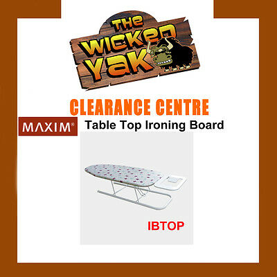 MAXIM Lightweight Collapsible Table Top Ironing Board IBTOP-FREE SHIPPING-NEW!
