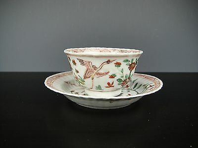 Kangxi Famille Verte Tea Cup And Saucer