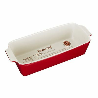 From Scratch Loaf Dish, Red Stoneware, 1.8 Litre
