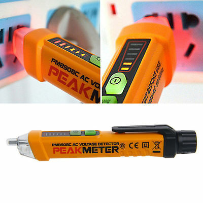 PM8908C 50-60Hz AC 12-1000V Contact Non Voltage Tester Pen Circuit Detector