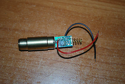 50mw 532nm green laser dot module 3V - strong beam, dot visible in daylight