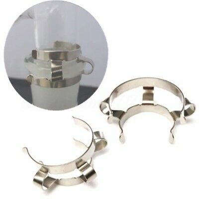2pcs Silver Stainless Steel Clip Keck Clamp for 24/29 24/40 Glass Ground Joint