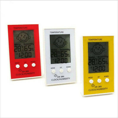 Indoor Outdoor Hygrometer Digital Clock Temperature Logger Humidity Meter SK