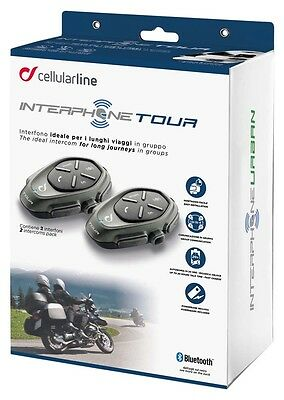 Interphone Tour Bluetooth Motorcycle Intercom Kit - Twin Pack
