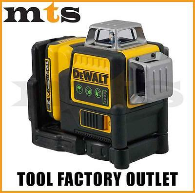 DEWALT DW089LG / DCE089D1G 10.8V / 12V 3 x 360 DEGREE GREEN BEAM LASER LEVEL