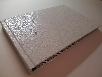 Bookcloth Handmade Photo Album Weddings & Special Occasions - White