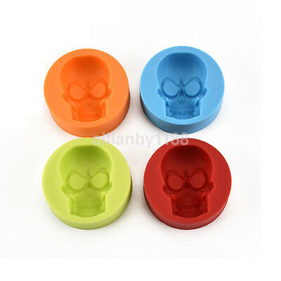 Simple DIY Halloween 3D Skull Silicone Mold Fondant Cake Baking Tool Cake Decor