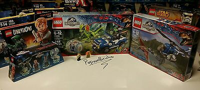 Lego Jurassic World 75916 Jeep and 75915 Helicopter + Dimension Pack New!