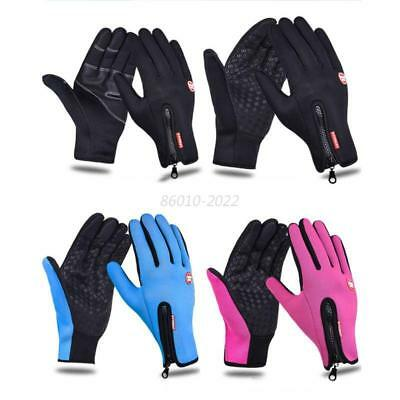 Men Women Touch Screen Windproof Outdoor Cycling Ski Thermal Winter Warm Gloves