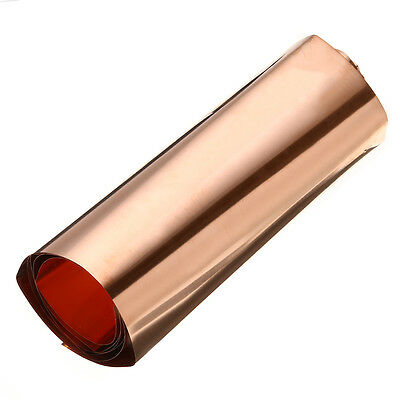 1pc 99.9% Pure Copper Cu Sheet Thin Metal Foil Roll 200x500x0.1mm