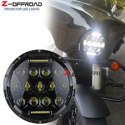 Motorcycle 7inch DRL Projector Daymaker 75W Front Lamps LED Headlight for Harley