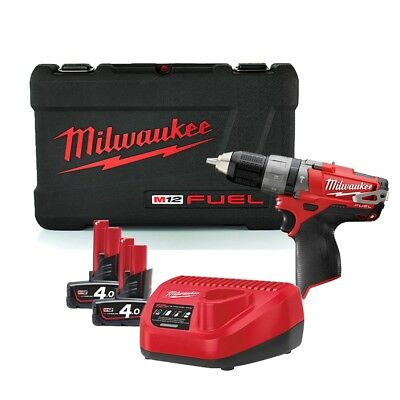 Milwaukee M12CPD-402C 12v Li-ion Fuel Li-Ion Percussion Drill, Charger, Case and