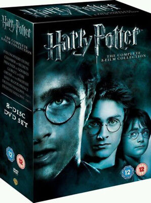 Harry Potter 1-8 Movie DVD Complete Collection Films Box Set Free Shipping