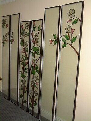 6 leaded stained glass door panels sealed units