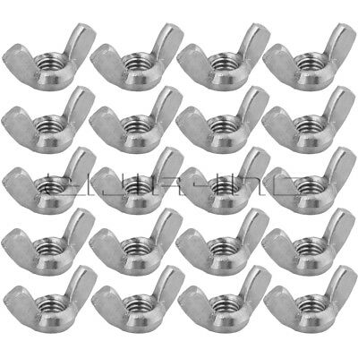 Silvery White Butterfly Nuts M8 Wing Nuts 304 Stainless Steel Wingnut Pack Of 20