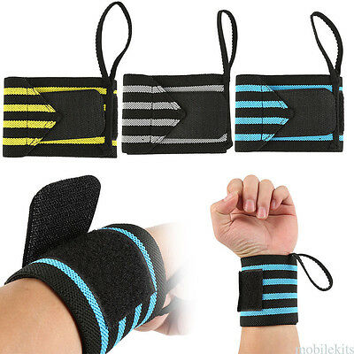 1 Pcs Durable Flexible Wrist Support Weightlifting Straps Wrap Strength Wrister