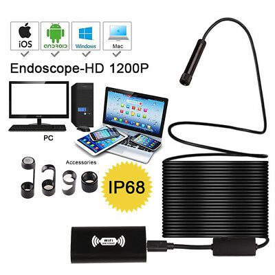 Wifi Endoscope 8mm 8 LED Android Borescope Inspection Camera for iPhone Andriod
