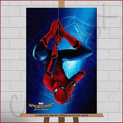 Marvel Spiderman Spider-Man Homecoming Framed Canvas Print Picture Art DC Comics