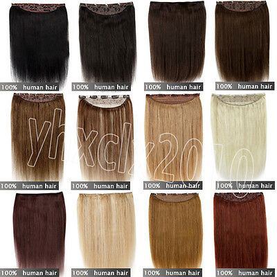 """Extensions de cheveux One Piece 5Clips in Remy Women Humains 18''22""""24"""""""