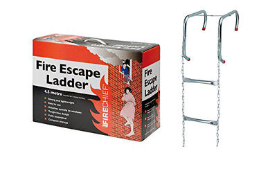 New 4.5m Homesaver Emergency Fire Escape Ladder -Suitable for 2 Storey Buildings