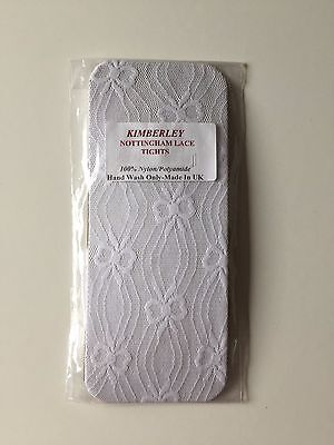 Kimberley Baby Girls White Lace Tights Various Sizes Brand New In Packet