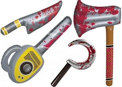 Blow Up Halloween Bloody Weapons Novelty Inflatable Horror Chop Shop Jason Fred