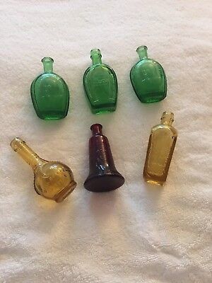 Mini Wheaton Bottles Eagle Claw, Horseshoe, Elixir, Ben Franklin