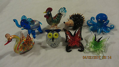 ANIMALS muranno glass figurine animals