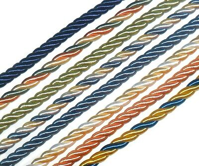 10Mm Silky Piping/Edging Rope Cord X2 Mtrs, Various Colours, Art Cordone/10
