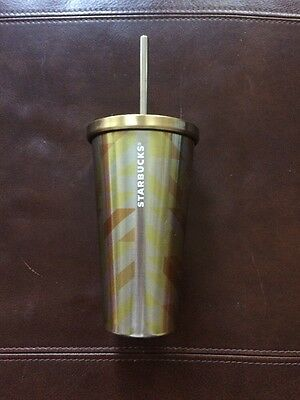 Starbucks Yellow Gold Stainless Steel Cup Travel Mug Coffee
