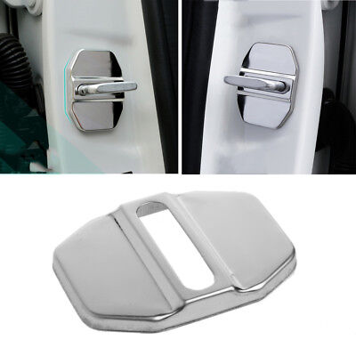 Stainless Steel Car Door Lock Cover Decor Sticker For Benz E C E260L GLK ML GLA