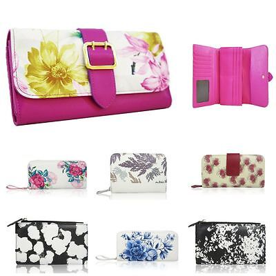 Ladies Fashion Purse Womens Floral Pattern Small Long Wallet Card Holder Zip