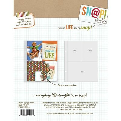 SN@P Studio Pocket Pages 3x4 und 4x6 Inch - 10 tlg von Simple Stories