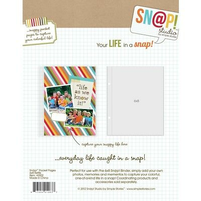 SN@P Studio Pocket Pages 6x8 Inch - 10 tlg von Simple Stories