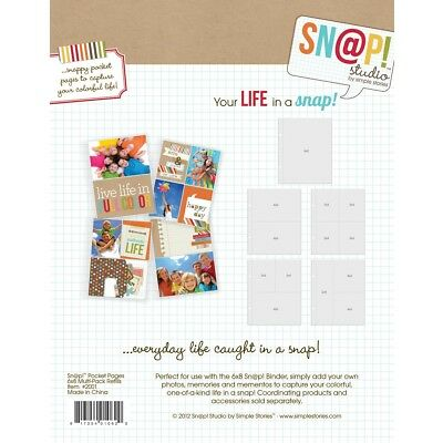 SN@P Studio Pocket Pages 6x8 Variety Pack von Simple Stories
