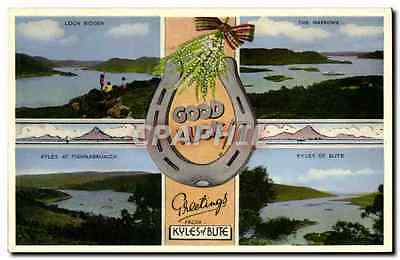 CPA Greetings From Kyles of Bute Fer cheval