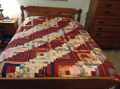 "Antique Fancy Quilt Top - Hand made beauty Great shape Approx. 75"" Long x 60"""