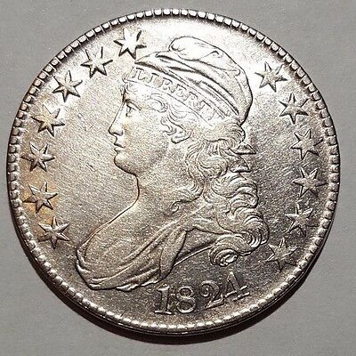 1824 Capped Bust Half dollar