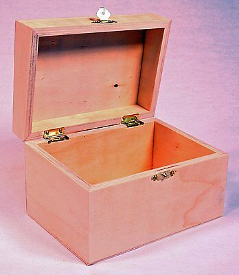 Package of 2 Unfinished Wood Treasure Chest Boxes for Weddings, Crafts & More