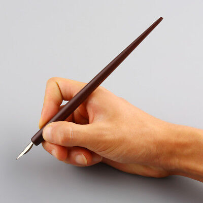 Solid Wooden Dip Pen for Oblique Calligraphy Writing Handmade High Quality
