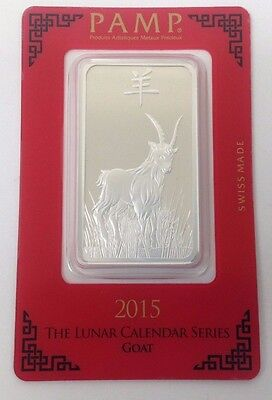 1 oz Pamp Suisse Year of the Goat Silver Bar - Sealed