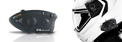 Motorbike Bluetooth Helmet Intercom With Radio Midland Alan Btx1 Fm Single