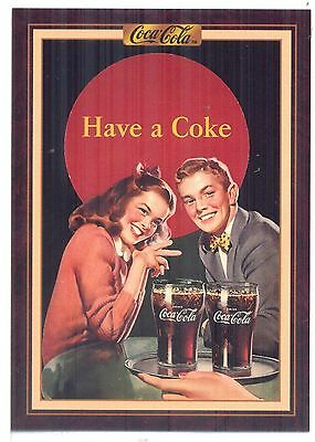 Year 1949: Young couple at the soda fountain, 1994 Coca-Cola Series 3 Card #212