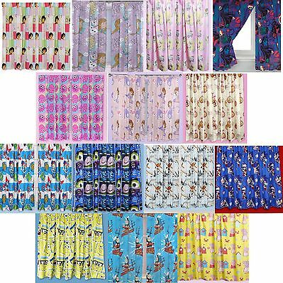 "Disney Childrens Kids Boys Girls Novelty Bedroom Curtains 66""x72"" 168cm x 183cm"